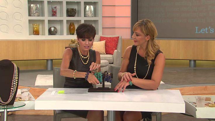 Veronese 18K Clad Turquoise or Lapis Bead Charm Bracelet with Nancy Hornback