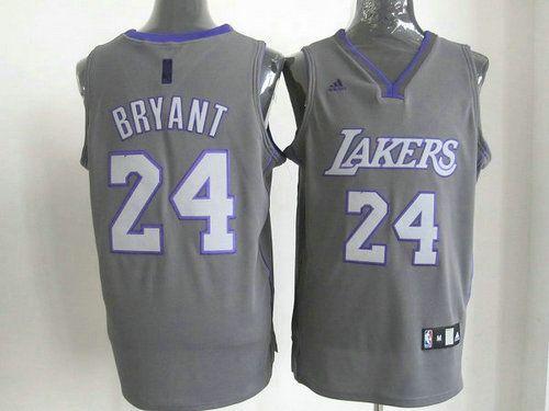 Los Angeles Lakers Kobe Bryant #24 Swingman Jersey Gray-Ortbel.com 1234