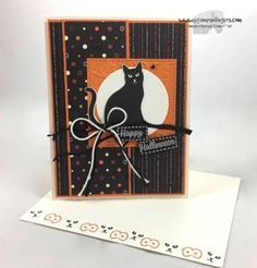 Stamps-N-Lingers. I love the new Cat Punch and that we can just punch a cool cat from some of the new Spooky Night DSP! For this card, I also added a sentiment from the Spooky Cat stamp set. The whole shootin' match will be available on 1 Sept in the 2017 Holiday Catalog. For free instructions on how to make this card, please visit my blog at: https://stampsnlingers.com/2017/08/21/stampin-up-seasonal-spooky-cat-punch-halloween-2/