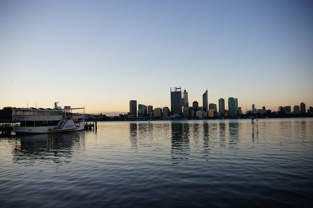 Perth city, from the Swan River