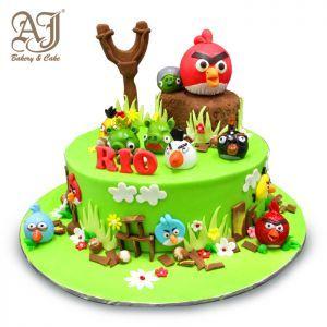 Angry Bird Cake, Semi Icing, Jakarta, Tangerang, Indonesia Online Order or Call Jakarta (62) 21 4528468 or Tangerang (62) 21 537 3653