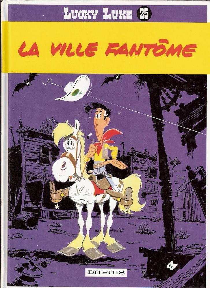LUCKY LUKE n°25 La ville fantôme Morris Goscinny Dupuis 1986 Très bon état