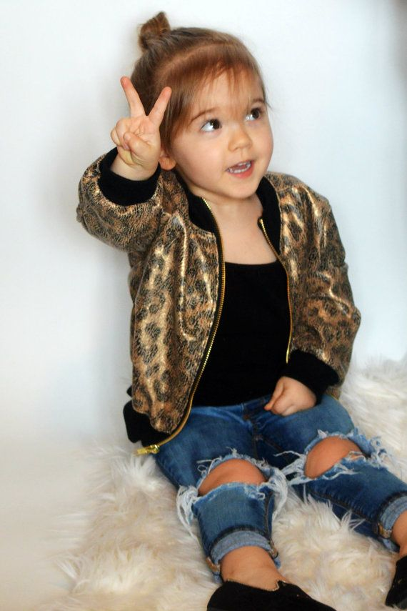 Baby/Toddler/Child Leopard Bomber Jacket