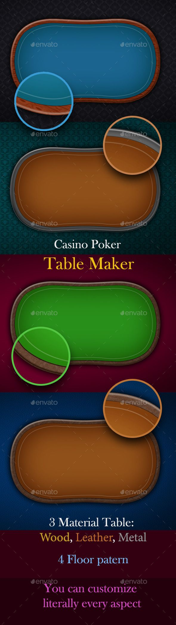 Casino Poker Table Maker (Backgrounds)