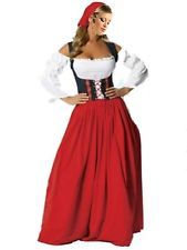 Ladies Sexy Wench Oktoberfest German Maid Fancy Dress Costume Medieval Outfit