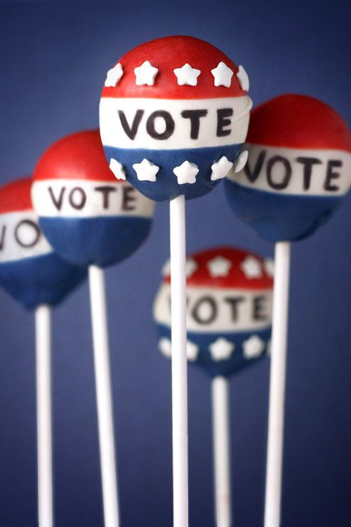 I Made These Last Election Day Vote Cake Pops By Bakerella
