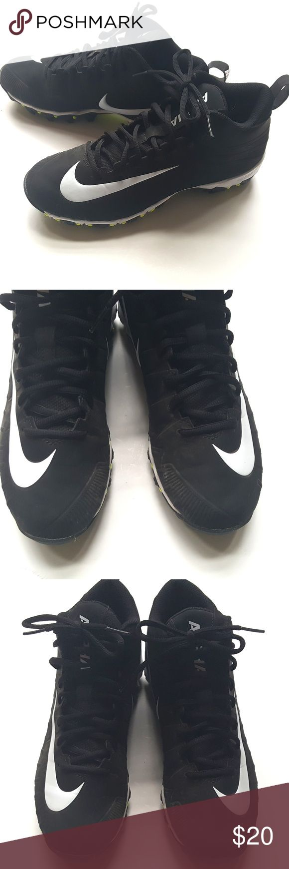 Nike Men's Alpha Menace Shark Football Cleats Shoe Nike Men's Alpha Menace Shark Football Cleats Shoes Black   Sz 7 Mens  VGUC, a few light smudges, no other wear or flaws.  My items come from a smoke-free household, we do have a kitty, so an occasional hair may occur! Nike Shoes Athletic Shoes