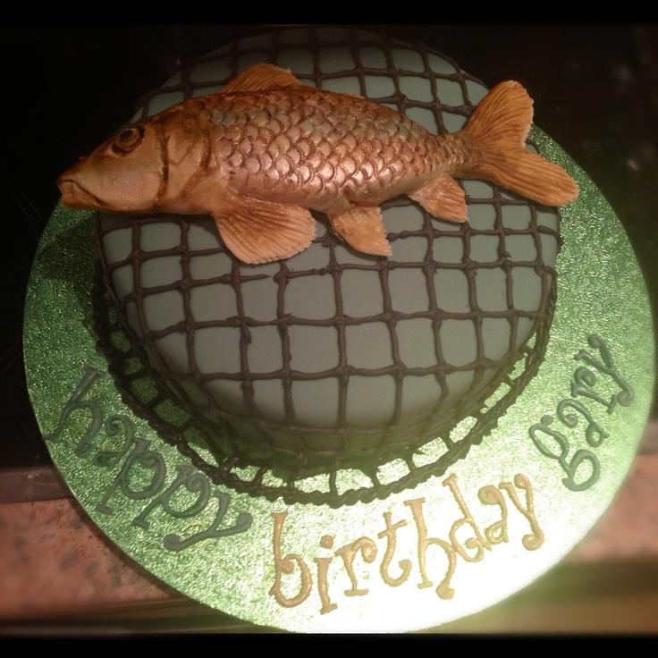 Fishing cake -chocolate sponge