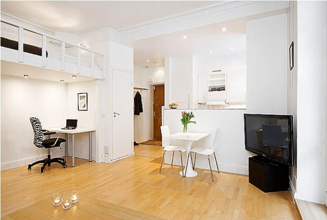 Apartments. Gorgeous Apartment Interior In Minimalist Style Design: Captivating Small Apartment Interior Design With Warm Nuance And Wooden Fooring Featuring White Colour Room Ideas ~ wegli