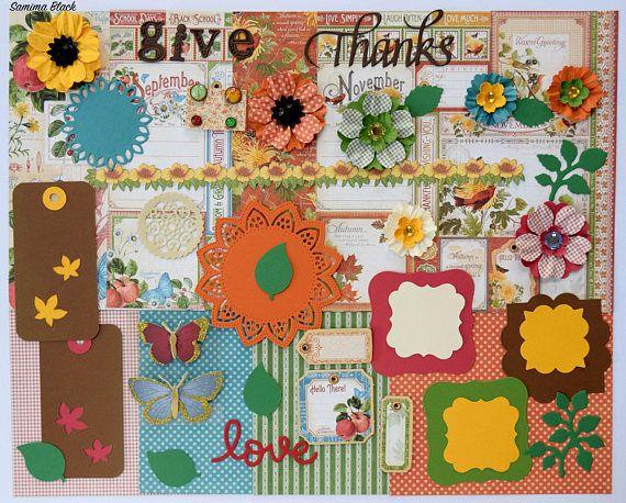 Graphic 45 Autumn Kit Scrapbook Paper and Embellishment Kit