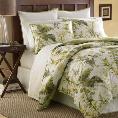 Tommy Bahama Island Botanical bedding - really nice but possibly over the top hawaiiana