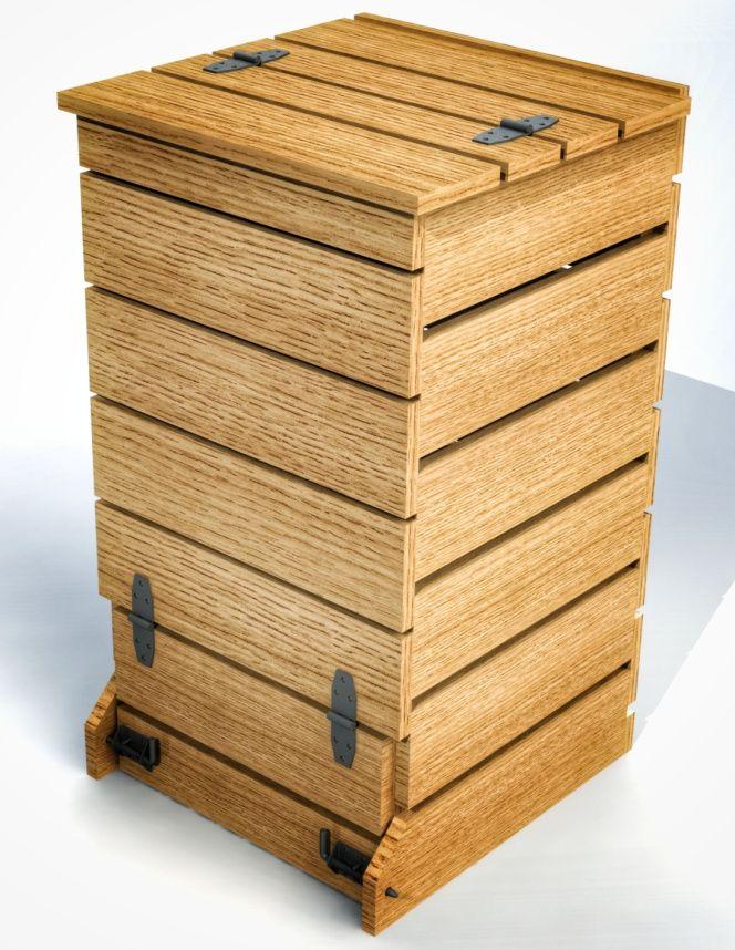 diy fabriquer un composteur en bois de palettes potager. Black Bedroom Furniture Sets. Home Design Ideas
