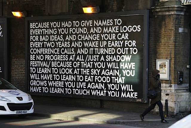 Streetart meets Poetry: Poems on Billboards by Robert Montgomery (12 Pictures)