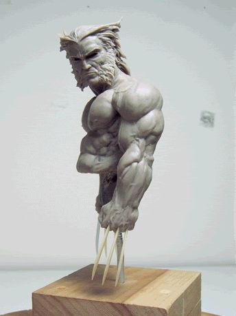 wolverine Sculpt | This one sculpted by a forum user known as Morhawkee. Sorry I don't ...