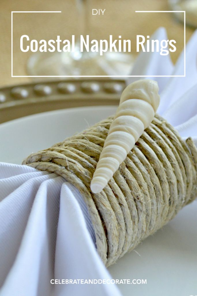 Easy DIY Tutorial for Coastal Napkin Rings