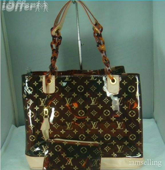 Louis Vuitton clear amber tote brown = to die for!!