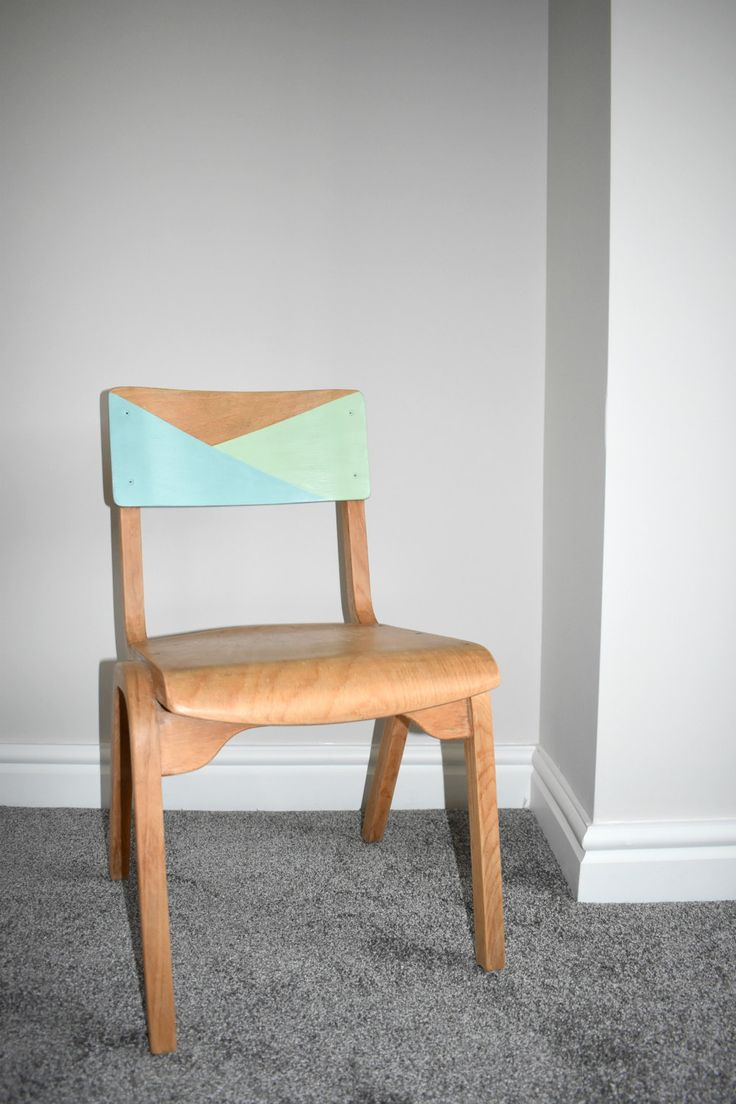 Upcycled Vintage Children's Wooden School Chair by WagnerBirtwistle on Etsy