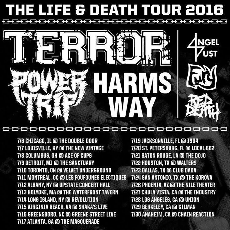 "Power Trip Announces ""The Life & Death Tour Dates"" 2016 #PowerTrip #Terror #Harmsway #Reddeath"