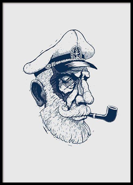 Capten, julisteet ryhmässä Julisteet  @ Desenio AB (8374)
