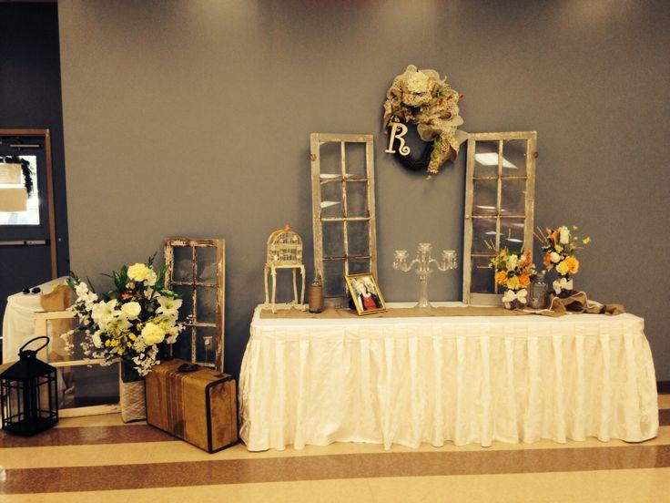 Rustic Wedding Gift Table Decorations #ashtensbigday