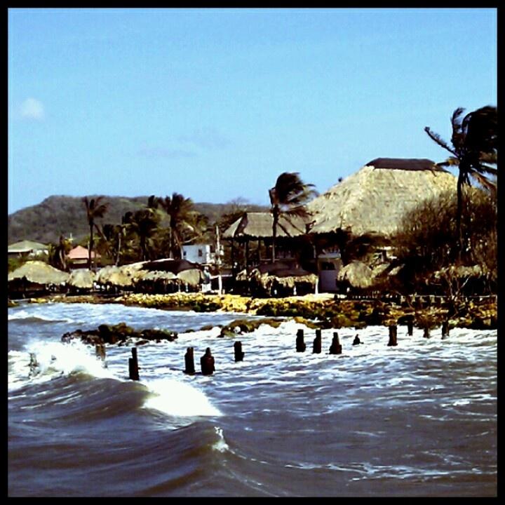 Vista de Puerto Colombia, desde el muelle. Barranquilla. Colombia. Caribe.