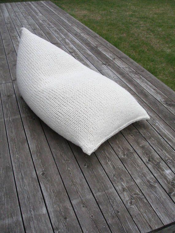 MADE TO ORDER-Adult bean bag-Wool nursery chair-Floor