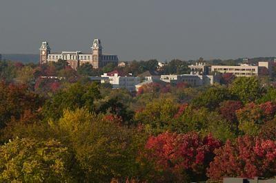 Plenty of hills to #ridecolorfully at the University of Arkansas in Fayetteville, AR  #katespadeny and #vespa.