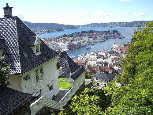 Bergen, Norway    From what I've experienced in life so far, I want to either visit for a long time or move to the town my grandfather came from.    I don't want to be stuck in my current life forever.