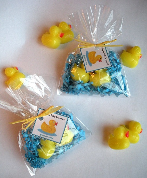 Baby Shower Favors Duck Soap ~ Yellow duck party favors rubber ducky baby shower