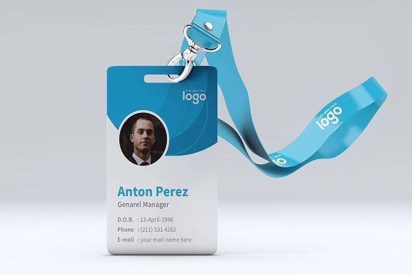 Blue Abstarct Id Card Design Identity Card Design Card Design Employee Id Card