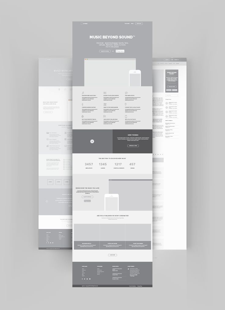 High Fidelity Wireframes by @wearepg #ponsgroup #ai #wireframes #dribbble