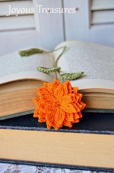 Marcapáginas hechos a mano ganchillo marcador por joyoustreasures