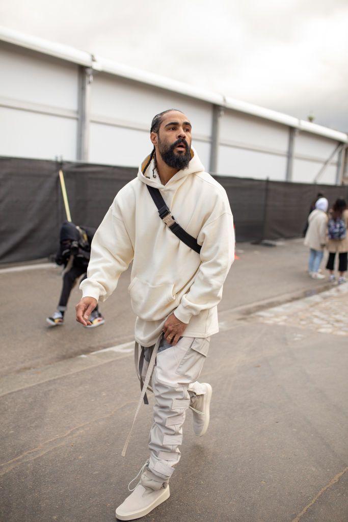 495a588ca Jerry Lorenzo is seen attending Louis Vuitton during Men s Paris ...