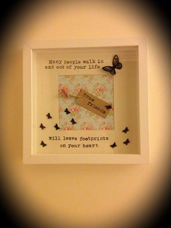 Friendship Quotes For Picture Frames : Handmade friendship friends gift frame