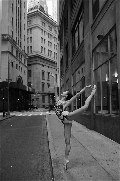NYC. Traffic police with little work, Financial District // Kaho Ogawa, The Ballerina Project by Dane Shitagi