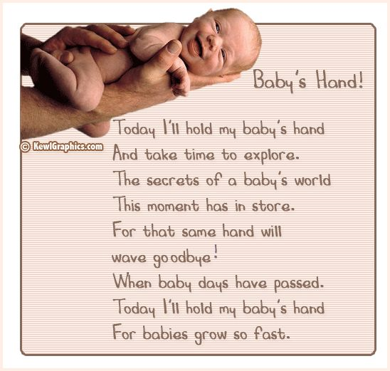 Babys hands poem Graphic plus many other high quality Graphics for your Facebook profile at KewlGraphics.com.