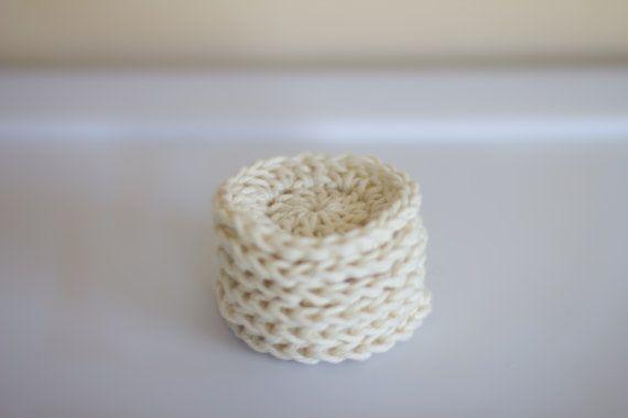 Reusable Cotton rounds Eco Friendly make up by PreciousLambKnits