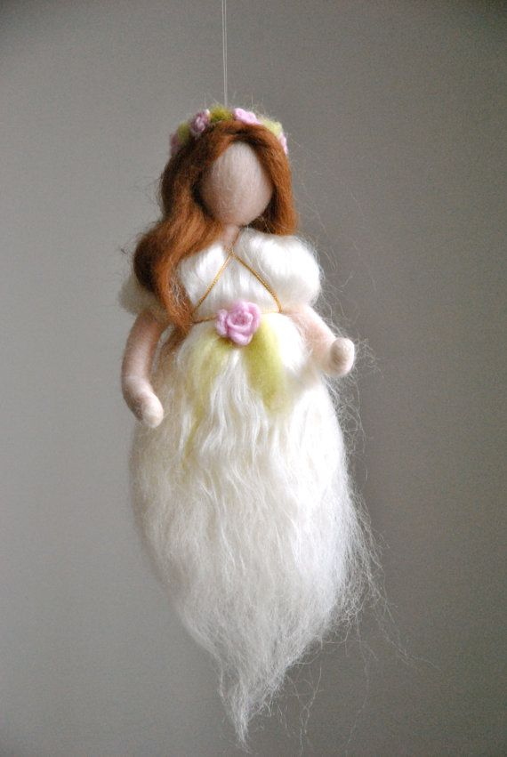 Wool Fairy Wall Hanging Waldorf inspired needle felted