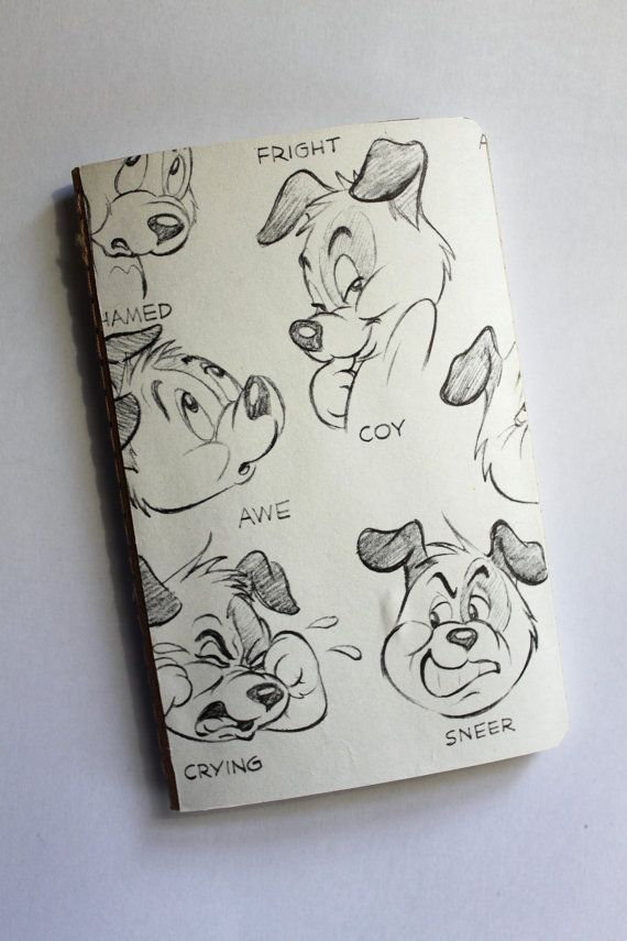 Cartoon Dog Drawings 2 - Moleskine Notebook - Travel Journal - Lined Pages