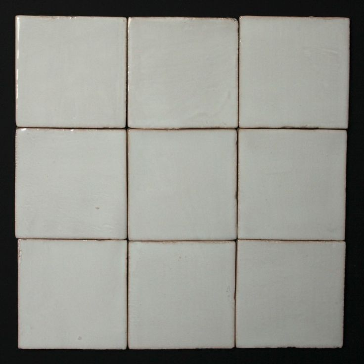Squares by Fifth Element Handmade Tiles Eggshell White  Available to order in other shapes and sizes