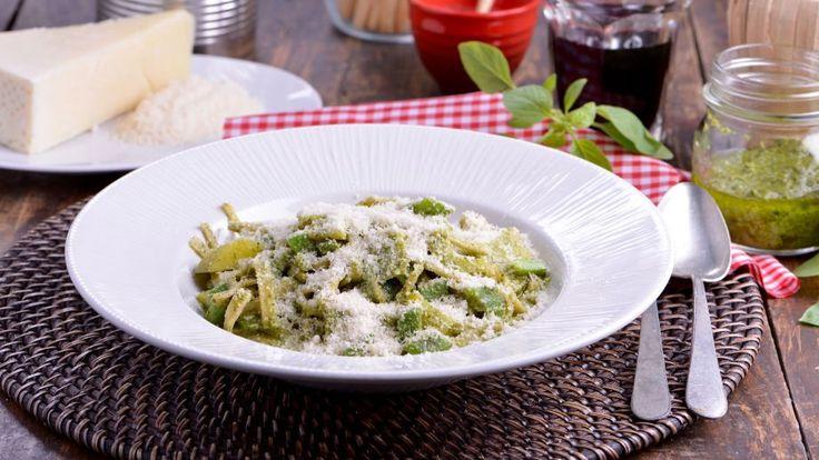 Tagliolini al pesto (Tagliolini al pesto genovese) - Matteo de Filippo - Receta - Canal Cocina