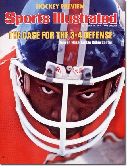 On the Cover: Rubin Carter, Football, Denver Broncos  Photographed by: John G. Zimmerman