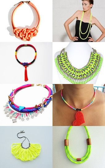 Neon Rope Jewelry by Sandy Rowley on Etsy--Pinned with TreasuryPin.com