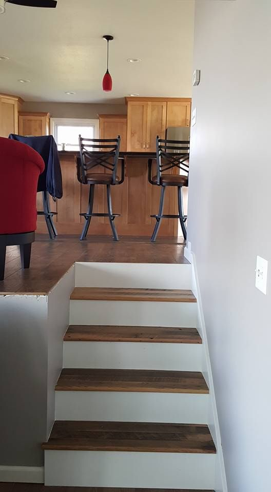 Best 9 Best Reclaimed Barn Wood Stairs Images On Pinterest 400 x 300