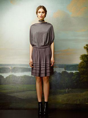 Rützou skirt and silk blouse