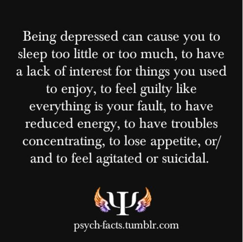 am i depressed if i sleep too little or sometime too much n feel guilty like everything is my fault n reduced energy n trouble conc n lose appetite ?