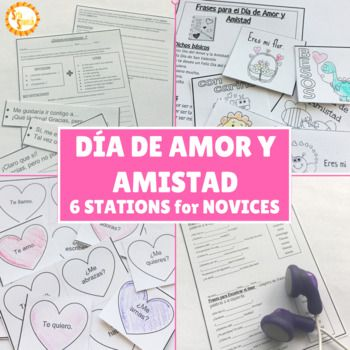 Students complete a variety of stations and activities to learn about Día de Amor y Amistad. Stations focus on novice level grammar and vocabulary skills, to celebrate the holiday! Print and go stations are ready for your students to explore! Stations Include: Terms of Endearment- Locker