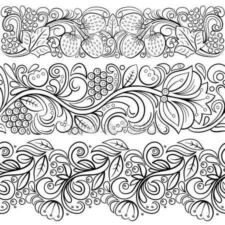 Рамка с местом для текста в стиле Хохлома — стоковая иллюстрация #70828141