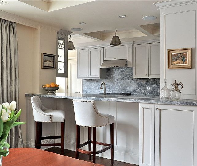 Gray Painted Kitchen Cupboards: Grey Kitchen Paint Colors. Benjamin Moore Gray Owl OC-52