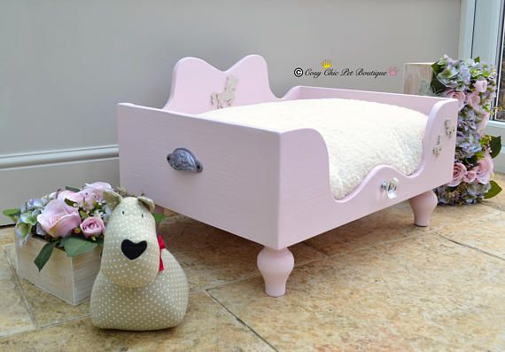 Our Beautiful and Very Popular Ballerina Pink Unicorn Bed This listing is for a size Medium, with an internal size of 70cm x 55cm  Painted in Ballerina Pink from our range of environmentally friendly and EN: 71-3 certified, (meaning that it's safe to paint nursery furniture) paint colours, these have NO VOCs added and are TOXIN and SOLVENT FREE and pet friendly. This bed was a huge hit at Crufts, everyone responded so well to it (even those with boys wanted it)! With shimmery pink ornate…